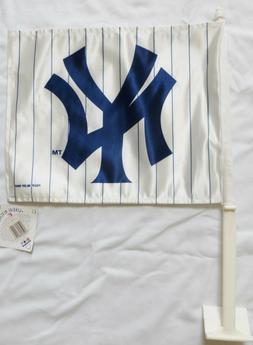 NEW YORK YANKEES 11X14 Window Mount 2-Sided Car Flag, NWT