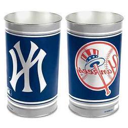 "NEW YORK YANKEES 15""X10.5"" TRASH CAN WASTEBASKET BRAND NEW W"