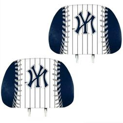 New York Yankees 2-Pack Color Print Auto Car Truck Headrest