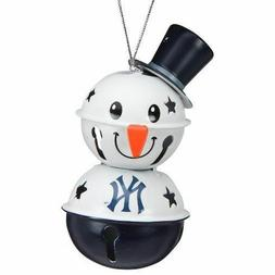New York Yankees 2 Tier Snowman Bell Ornament Christmas Tree