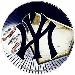 "New York Yankees 4"" Round Flat Vinyl Decal Bumper Sticker Em"