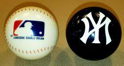 NEW YORK YANKEES & MLB POOL BALL SET - BRUNSWICK BILLIARDS C