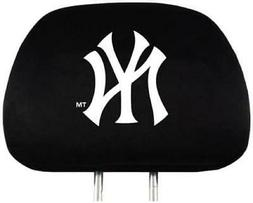 New York Yankees Auto Headrest Covers 2 Pack  MLB Car Seat H