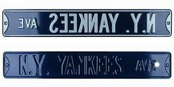 New York Yankees Ave Licensed Authentic Steel 36x6 Blue & Wh