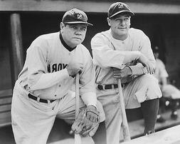 New York Yankees BABE RUTH & LOU GEHRIG Glossy 8x10 Photo Ba
