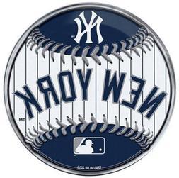 New York Yankees Baseball Premium Aluminum Metal Color Chrom