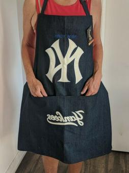 New York Yankees BBQ Apron one size 3 pockets HEAVY DUTY CAN