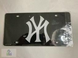 New York Yankees Black And Silver Crystal Mirrored Car Licen