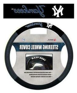New York Yankees Black Poly-suede & Mesh Steering Wheel Cove