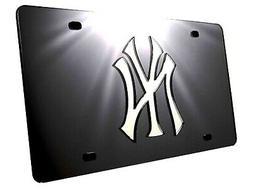 New York Yankees Black Premium Laser Tag Acrylic Mirrored Li