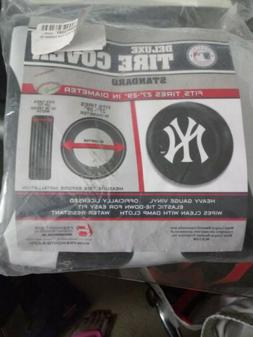 New York Yankees Black Tire Cover - Standard Size  27-29