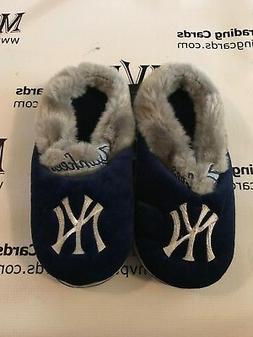 New York Yankees Blue/Grey Slippers Men Size Small 5 1/2 - 7