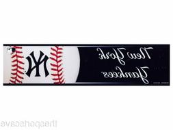 New York Yankees Bumper Sticker NEW!! 3 x 11 Inches Free Shi