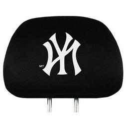 NEW YORK YANKEES CAR AUTO 2 TEAM HEAD REST COVERS  MLB BASEB