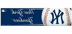 "NEW YORK YANKEES CAR BUMPER STICKER DECAL 3"" X 12"" STRIP MLB"