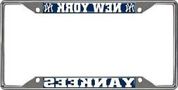 New York Yankees Chrome Frame Metal License Plate Tag Cover