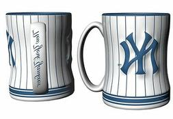 New York Yankees Coffee Mug Relief Sculpted Team Color Logo