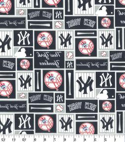 """NEW YORK YANKEES COTTON FABRIC FQ 1/4yd 18""""x29""""-perfect for"""