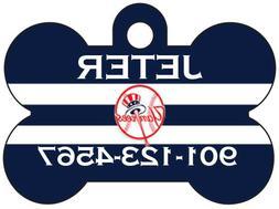 New York Yankees Custom Pet Id Dog Tag Personalized w/ Name