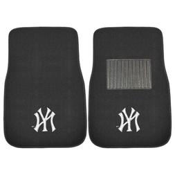 New York Yankees 2 Piece Embroidered Car Auto Floor Mats