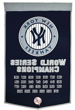 "New York Yankees Embroidered Wool Dynasty 24"" x 36"" Banner P"