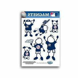 New York Yankees Family Magnet Set  Auto Car Stickers Emblem
