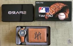 Sparo New York Yankees Gift Set Wallet + Watch - New