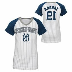 New York Yankees Girl's Masahiro Tanaka #19 Player T-Shirt Y