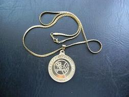NEW YORK YANKEES GOLDEN CHARM PENDANT FOB STAINLESS STEEL CH