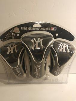 New York Yankees Golf Club 3 Piece Headcover Set MLB New in