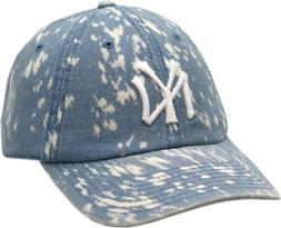 New York Yankees Hat Buckle Back Jean Dyed
