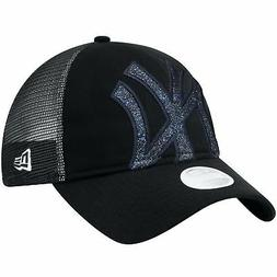 New York Yankees Hat Shined Up Trucker Women's Adjustable Sn