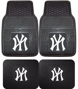 New York Yankees Heavy Duty Floor Mats 2 & 4 Pc Sets for Car