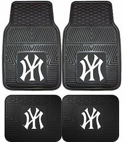 New York Yankees Heavy Duty MLB Floor Mats 2 & 4 pc Sets for