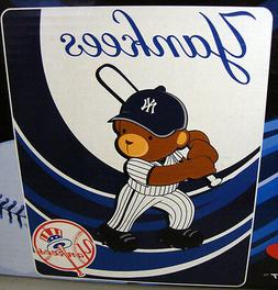 New York Yankees Kids Royal Plush Raschel Throw Blanket
