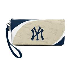 New York Yankees Ladies Women's Curved Zipped Wallet Organiz