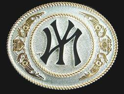 New York Yankees Large Two Toned Metal Belt Buckle MLB Licen