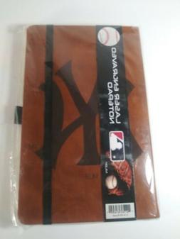 New York  Yankees Laser Engraved  Lined Notepad Brown MLB Ho