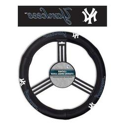 New York Yankees Leather Steering Wheel Cover  MLB Car Auto
