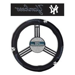 New York Yankees Leather Steering Wheel Cover  MLB Auto Car