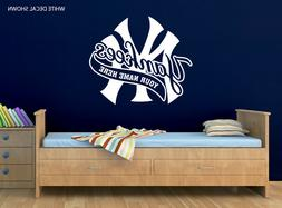 New York Yankees Logo Wall Decal w/ Your Name or Original Wo