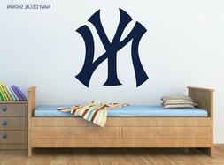 NEW YORK YANKEES Logo Wall Decal w/ Complementary Squeegee -