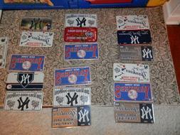 New York Yankees license plate memorabilia magnet or window