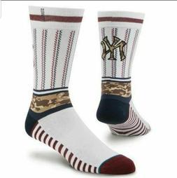 Stance New York Yankees Memorial Day Camo Crew Socks Men's S