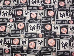 NEW YORK YANKEES  MLB  100% COTTON 1/2 YARD  PIECE BRAND NEW