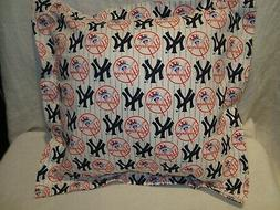 "New York Yankees MLB 14"" Cotton Fabric Throw Pillow/Cover/St"