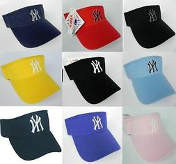 NEW YORK YANKEES MLB ADJUSTABLE VISOR CAP HAT BY ANNCO NWT M
