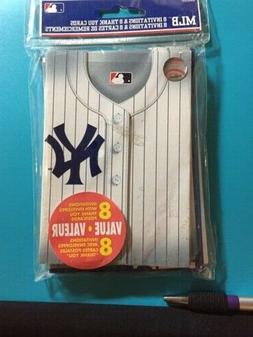 NEW YORK YANKEES MLB BASEBALL 8 pcs INVITATIONS & THANK YOU