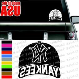 NEW YORK YANKEES MLB BASEBALL CAP NYC cool Car decal Window