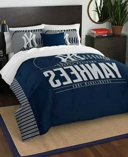 New York Yankees MLB Baseball Twin Size Bed Comforter Pillow